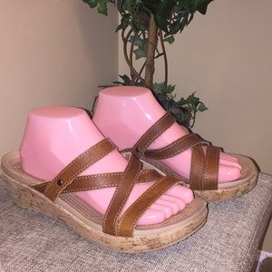 Crocs slide on wedge sandals